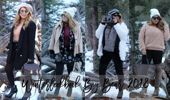 Winter Lookbook in Big Bear, CA